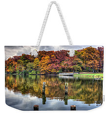 Autumn At The Pond Weekender Tote Bag