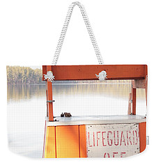 Autumn At White Lake Weekender Tote Bag by Barbara Bardzik