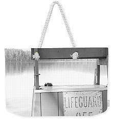 Autumn At White Lake Bw Weekender Tote Bag by Barbara Bardzik