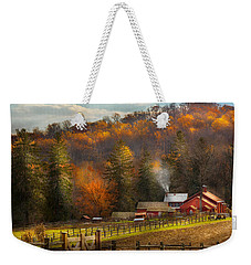 Autumn - Barn - The End Of A Season Weekender Tote Bag