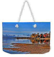 Autumn Beach Solitude Weekender Tote Bag