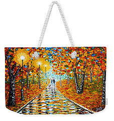 Autumn Beauty Original Palette Knife Painting Weekender Tote Bag