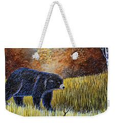 Autumn Black Bear Weekender Tote Bag
