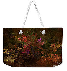 Weekender Tote Bag featuring the digital art Autumn Bouquet by Olga Hamilton