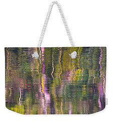Weekender Tote Bag featuring the photograph Autumn Carpet by Yulia Kazansky