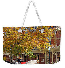 Autumn Carriage For Hire Weekender Tote Bag
