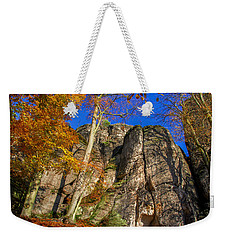 Autumn Colors In The Saxon Switzerland Weekender Tote Bag