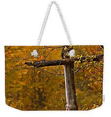 Autumn Cross Weekender Tote Bag