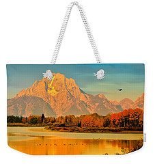 Autumn Dawn At Oxbow Bend Weekender Tote Bag