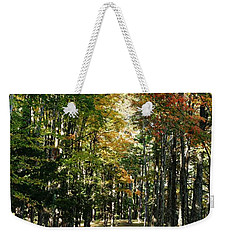 Autumn Drive Weekender Tote Bag by Barbara Bardzik