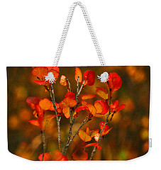 Autumn Emblem Weekender Tote Bag by Jeremy Rhoades