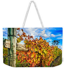 Autumn Falls At The Winery Weekender Tote Bag
