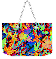 Weekender Tote Bag featuring the photograph Autumn Fiesta by Ann Johndro-Collins