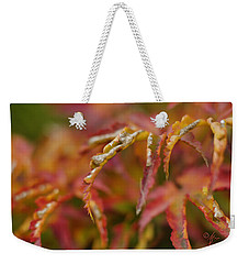 Weekender Tote Bag featuring the photograph Autumn Fingers by Arthur Fix