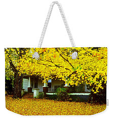 Weekender Tote Bag featuring the photograph Autumn Homestead by Rodney Lee Williams
