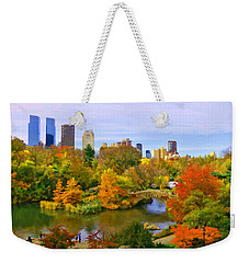 Autumn In Central Park 4 Weekender Tote Bag