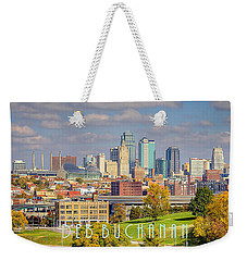 Autumn In Kansas City With Logo Weekender Tote Bag