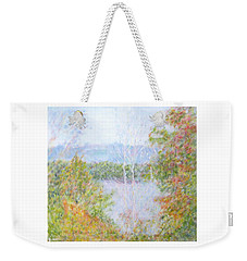 Autumn By The Lake In New Hampshire Weekender Tote Bag