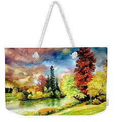 Autumn In Park Weekender Tote Bag