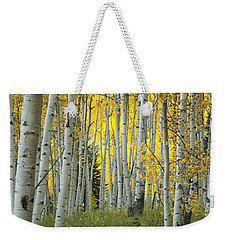 Autumn In The Aspen Grove Weekender Tote Bag by Juli Scalzi
