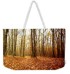 Autumn In The Forest With Red And Yellow Leaves Weekender Tote Bag