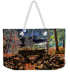 Weekender Tote Bag featuring the painting Autumn In The Meadow by Michael Rucker