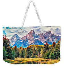Autumn In The Tetons Weekender Tote Bag