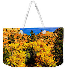 Weekender Tote Bag featuring the photograph Autumn In Zion by Greg Norrell