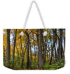 Weekender Tote Bag featuring the photograph Autumn Is Here by Sebastian Musial