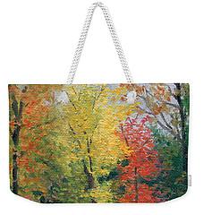Weekender Tote Bag featuring the painting Autumn by Joe Winkler