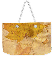 Autumn Leaf In Grunge Style Weekender Tote Bag