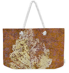 Autumn Leaf On Copper Weekender Tote Bag by Carol Leigh