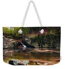 Autumn Leaf Trails Weekender Tote Bag