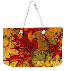 Weekender Tote Bag featuring the photograph Autumn Leaves by Ann Powell