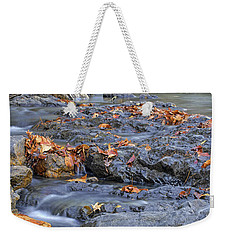 Autumn Leaves At Little Missouri Falls - Arkansas - Waterfall Weekender Tote Bag