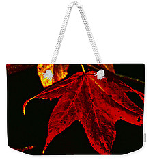 Weekender Tote Bag featuring the photograph Autumn Leaves by Lesa Fine