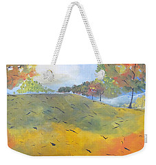 Autumn Leaves Panel 2 Of 2 Weekender Tote Bag