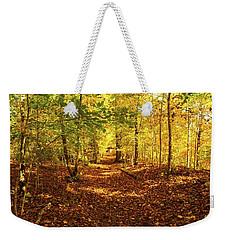Autumn Leaves Pathway  Weekender Tote Bag by Jerry Cowart