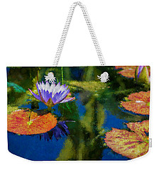 Autumn Lily Pad Impressions Weekender Tote Bag