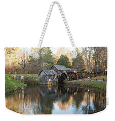 Weekender Tote Bag featuring the photograph Autumn Morning At Mabry Mill by Carol Lynn Coronios