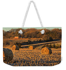 Autumn Morning Bales Weekender Tote Bag