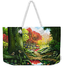 Autumn Morning In The Forest Weekender Tote Bag
