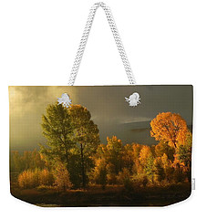 Autumn Morning On The Gros Ventre Weekender Tote Bag