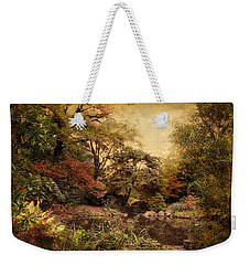 Weekender Tote Bag featuring the photograph Autumn On Canvas by Jessica Jenney