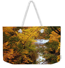 Weekender Tote Bag featuring the photograph Autumn On Display by Jessica Jenney