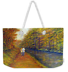 Autumn On The Towpath Weekender Tote Bag
