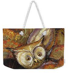 Autumn Owl Weekender Tote Bag