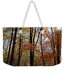 Weekender Tote Bag featuring the photograph Autumn Picnic by Debbie Oppermann