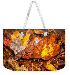 Autumn Pile Weekender Tote Bag by Melinda Ledsome