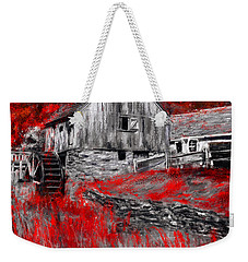 Autumn Promise- Red And Gray Art Weekender Tote Bag